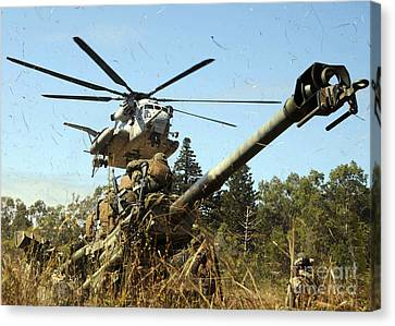 An Mh-53e Sea Stallion Helicopter Canvas Print by Stocktrek Images