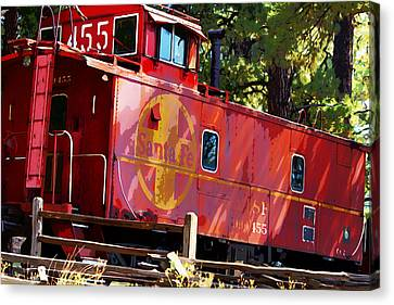 An Old Caboose Painterly Canvas Print by Phyllis Denton