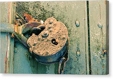 Canvas Print featuring the photograph Old Lock by Katie Wing Vigil
