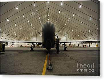 An Rq-4 Global Hawk Unmanned Aerial Canvas Print by Stocktrek Images