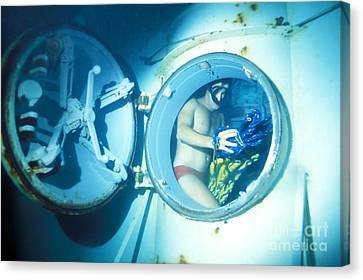 An Underwater Demoltion Team Canvas Print by Michael Wood