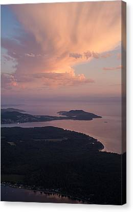 Anacortes Thunder Canvas Print by Mike Reid