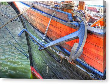 Anchor Setting Canvas Print by Barry R Jones Jr