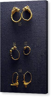 Hellenistic Earrings Canvas Print by Andonis Katanos