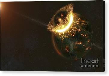Ancient Earth Impact Canvas Print