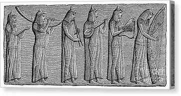 Ancient Egypt: Musicians Canvas Print by Granger