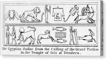 Dendera Canvas Print - Ancient Egypt: Zodiac by Granger