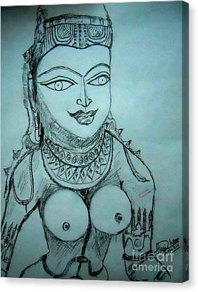 Ancient Indian Sculpture Canvas Print by Hari Om Prakash
