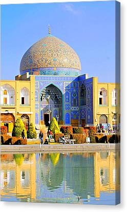 Ancient Prayer Place Canvas Print by Afshin Ghaziasgar