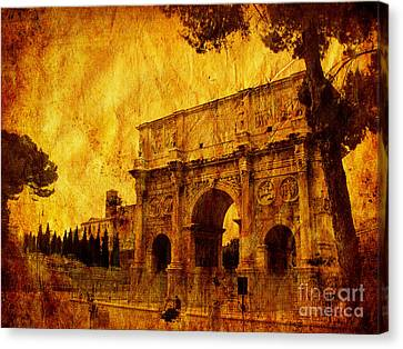 Ancient Rome Canvas Print by Stefano Senise