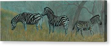 And Baby Makes Three Canvas Print by Linda Harrison-parsons