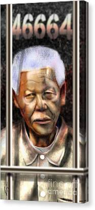 And God Remembered Prisoner 46664 Canvas Print by Reggie Duffie