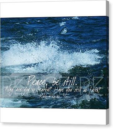 and He Awoke And Rebuked The Wind And Canvas Print