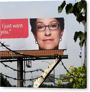 And The Billboard Wants Botox. Canvas Print