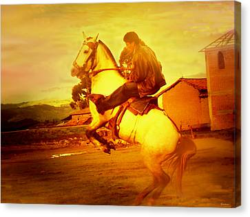 Andean Rearing Horse-cuzco Caballero IIi Canvas Print by Anastasia Savage Ealy