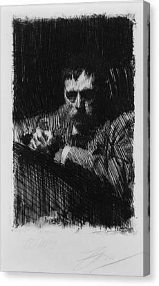 Anders Zorn 1860-1920, Swedish Canvas Print by Everett