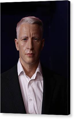 Anderson Hays Cooper - Cnn - Anchor - News Canvas Print by Lee Dos Santos