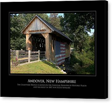Andover Nh Historical Bridge Canvas Print by Jim McDonald Photography