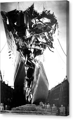 Andrea Doria Disaster. This Head-on Canvas Print by Everett