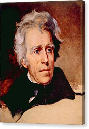 Andrew Jackson 1767-1845, U.s Canvas Print by Everett