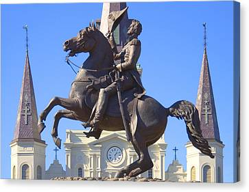 Andrew Jackson Statue Canvas Print by Mike McGlothlen