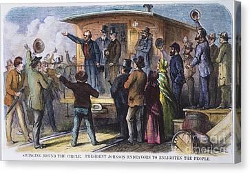 Andrew Johnson (1866): Canvas Print by Granger