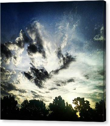 #andrography #nexuss #clouds #sky Canvas Print by Kel Hill