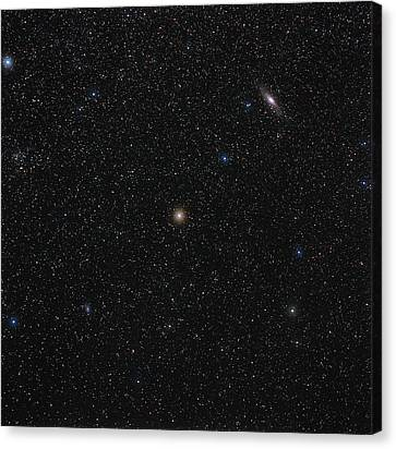 Andromeda Starfield Canvas Print by Eckhard Slawik