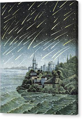 Andromedid Meteor Shower Canvas Print by Science, Industry & Business Librarynew York Public Library