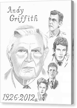 Andy Griffith Canvas Print by Gail Schmiedlin