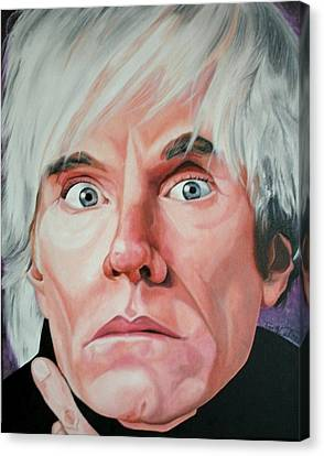 Portraits By Timothe Canvas Print - Andy Warhol by Timothe Winstead