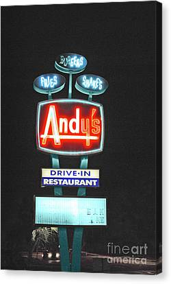 Andy's Drive-in Canvas Print by Jost Houk