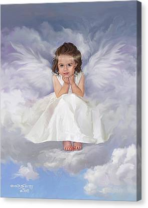 Canvas Print featuring the painting Angel 2 by Rob Corsetti