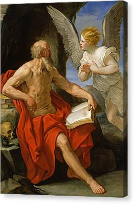 Angel Appearing To St. Jerome Canvas Print by Guido Reni