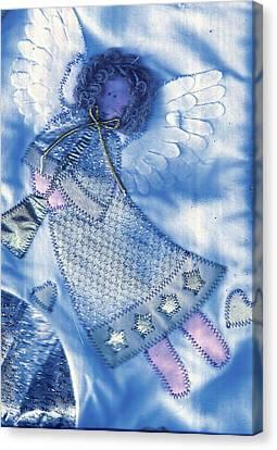 Angel Blue Canvas Print by Anne-Elizabeth Whiteway