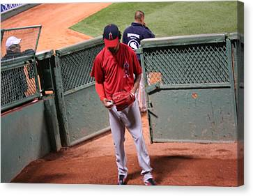 Angel In The Bullpen Canvas Print by Stephen Melcher