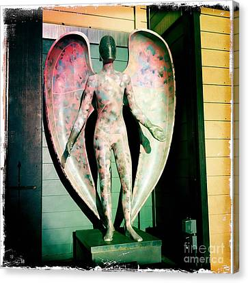Canvas Print featuring the photograph Angel In The City Of Angels by Nina Prommer
