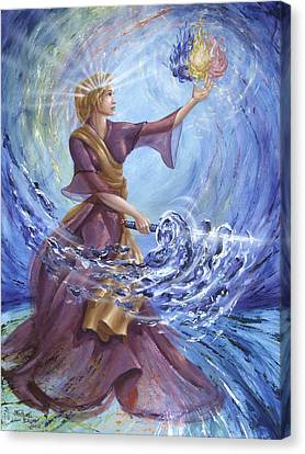 Angel Liberty Canvas Print by Michael Baum
