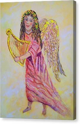 Canvas Print featuring the painting Angel by Lou Ann Bagnall