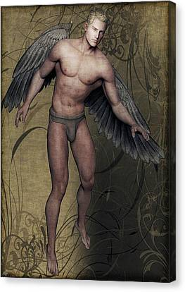 Canvas Print featuring the painting Angel by Maynard Ellis