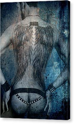 Bombelkie Canvas Print - Angel Nude  by Mark Ashkenazi