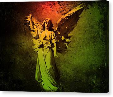 Canvas Print featuring the photograph Angel Of Death by David Dehner