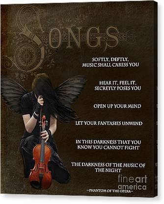 Angel Of Music Canvas Print by Serena Ballard