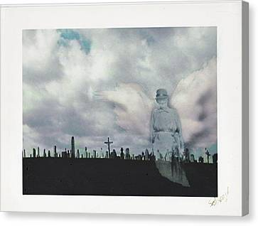 Ghostly Canvas Print - Angel Of The Mourning by Lori  Secouler-Beaudry
