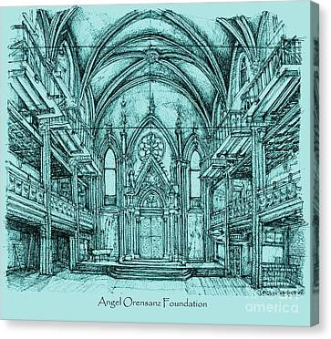 Angel Orensanz In Blue Canvas Print