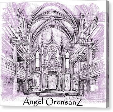 Angel Orensanz In Lilac  Canvas Print by Building  Art