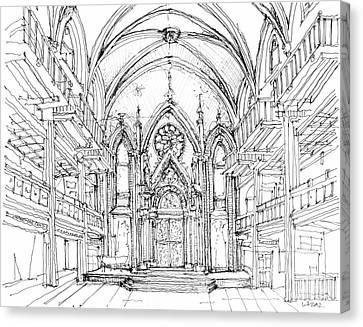 Angel Orensanz Sketch 2 Canvas Print