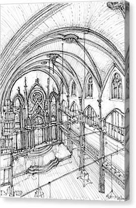 Angel Orensanz Sketch 3 Canvas Print by Building  Art