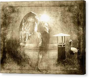 Angel Spirit Sepia Canvas Print