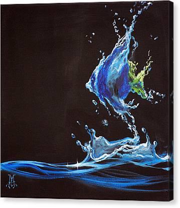 Angel Splash Canvas Print by Marco Antonio Aguilar